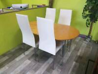 Dining Table With 4 Marks & Spencer's Chairs - Can Deliver For £19