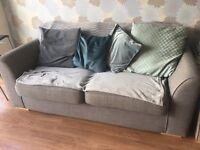Grey 3 seater DFS sofa 1year old
