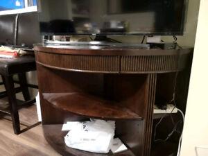 wood TV stand/shelf unit