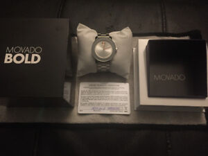 WOMENS MOVADO BOLD WATCH *BRAND NEW IN BOX WITH WARRANTY CARD*