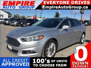 2016 FORD FUSION SE * AWD * LEATHER * SUNROOF * NAV * REAR CAM *