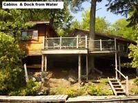 MUSKOKA LAKES- Rustic Log Cabin, Lake Joseph, Gordon Bay
