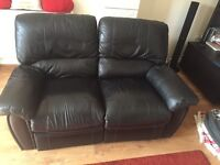 Black sofas recliner 1seater and 2 seater
