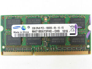 DDR3 2GB STICK LAPTOP MEMORY 10$