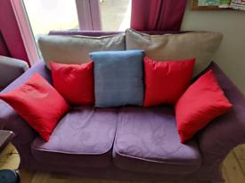 Comfy colourful 2-seater sofa