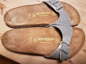 Birkenstocks ladies 11 silver new