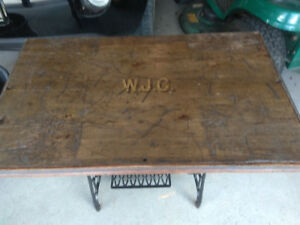 Antique Top/Sewing Machine Bottom Table