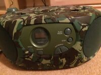 Camouflage CD player and radio