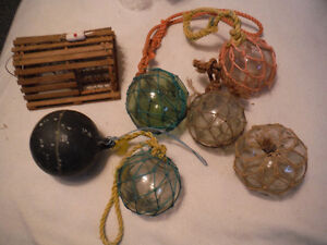 GLASS BOBBERS (buoys) FOR FISHING NETS