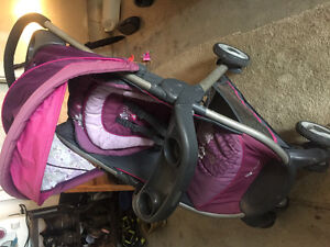 Purple Minnie Mouse Full Stroller