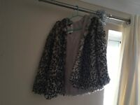 Faux fur polyester coat
