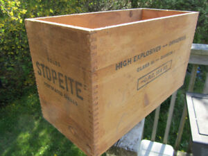 Old Wooden Dynamite Box