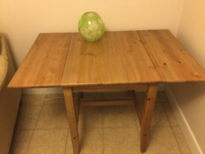 IKEA wood table with extensions