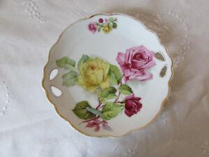 Antique/Vintage Silesia Transferware Cake Plate