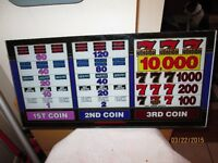 Glass Panel from Coin Slot Machine - Lucky 7'S