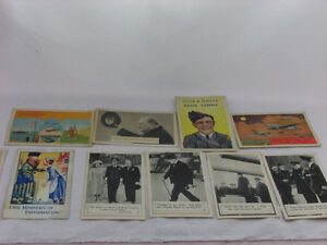W.W.2 Vintage Post Cards - 9 Total