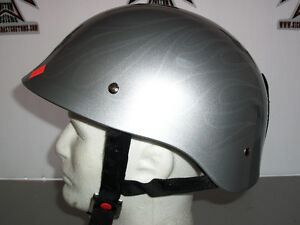 TORC Gloss Silver, Ghost Flame Design, Cruiser Helmet.