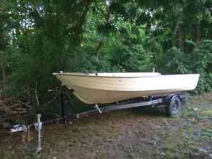 16' mirrorcraft aluminum boat with trailer