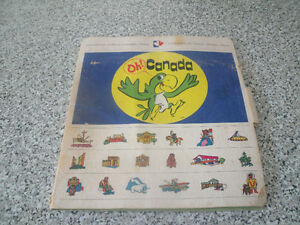 Oh! Canada Educational Game Set Vintage 1970's