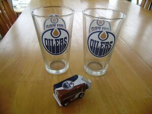 EDMONTON OILERS NHL STICKERS GLASSES AND DIE CAST ZAMBONI Windsor Region Ontario image 2