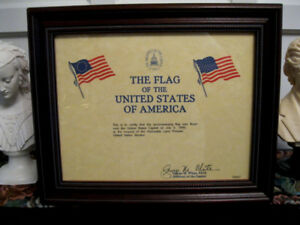 Flag flown over United State Capitol July 4 1995 + Certificate