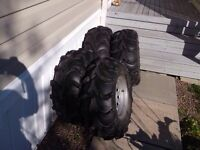 Mud lite tires 250 or best offer possibly trade my back tires