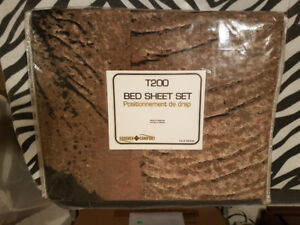 BEAUTIFUL BROWN MARBLE PATTERN TWIN SHEET SET