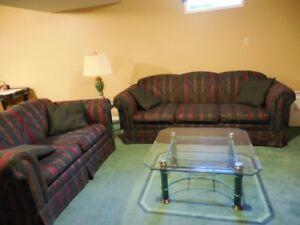 Couch, love seat, coffee table, end table