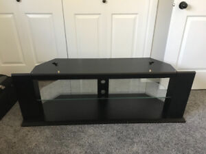 TV stand (black with glad shelf)