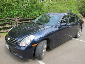 Midnight blue 2005 INFINITI G35 Sedan FOR SALE
