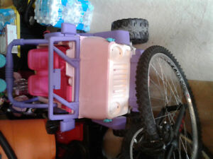 RECHARGEABLE 4X4 GIRLS JEEP AND BICYCLE FOR SALE