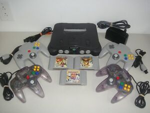 Nintendo 64 N64 Console + 4 Manettes & Mario Party 1, 2 & 3