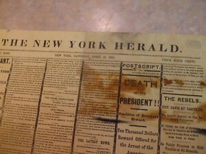 THE NEW YORK HERALD 1865