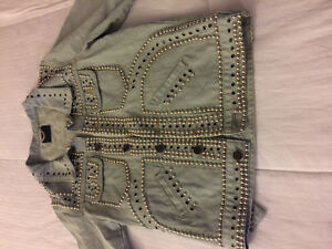 Fashion Jean Jacket Saint Laurent Paris studded