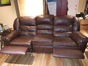 2 AND 3 SEATER LEATHER ELRAN SOFAS