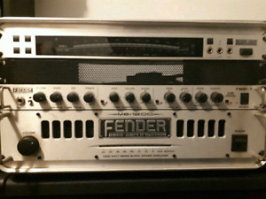 Fender TBP-1 and MB-1200 Power Amp with Korg Tuner