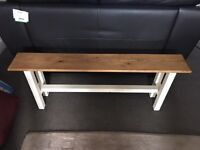Oak style wooden bench for dining table / kitchen