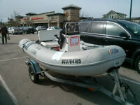 """11"""" AB RIB Center Console Me4rcury 25HP ultra low hrs"""