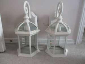 2 CARRIAGE LIGHTS - OUTSIDE - $10.00 EACH