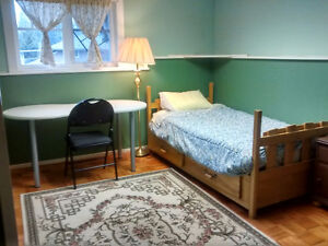Inside of the beautiful house, bright and clean furnished room