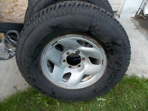 4-16 inch tires, like new condition, on 6 bolt  rims