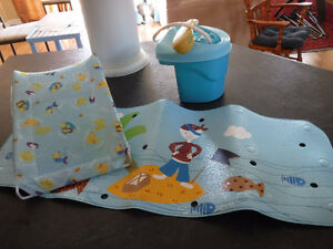Baby Bathing Accessories: shower, mat & baby support