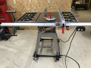 Craftsman 10 Inch Table Saw with Extensions, Base and Dolly