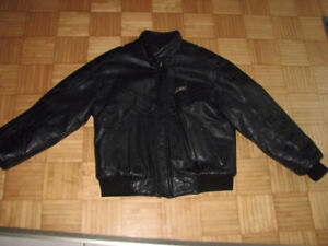 Leather snowmobile jacket