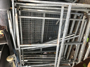 Metal garden centre racks/ scrap metal