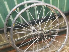 Road wheels, 10 speed, 700c, two wheel sets
