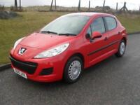 Peugeot 207 1.4 Urban 2010 ONLY 59200 Mls 5 Dr Bright Red 1 Previous Owner