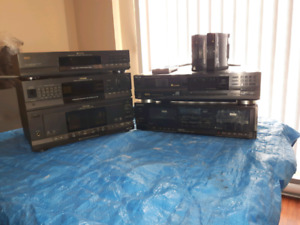 Toshiba Sound System with 6+Disc CD Player and a Sony dual casse