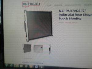 """U41-RM170DS 17"""" Industrial Rear Mount Touch Monitor"""