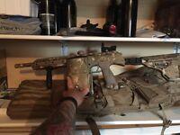 Dam/box rotor and gear. Paintball gun reduced